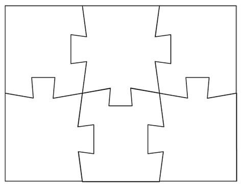 blank jigsaw puzzle templates    jigsaw