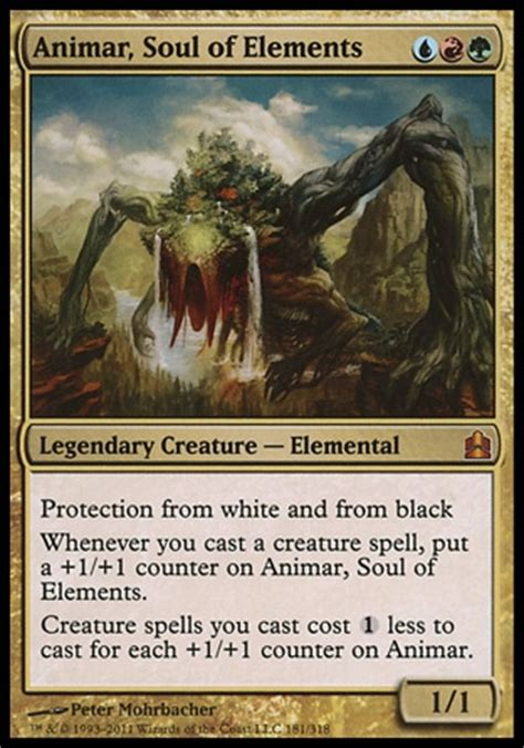 Competitive Edh Decks Mtg by Competitive Animar Soul Of Elements Combo