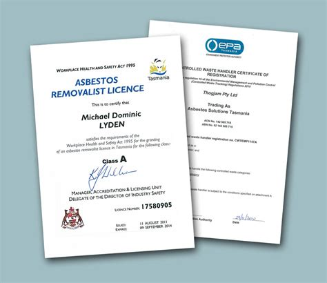 accreditation asbestos solutions tasmania