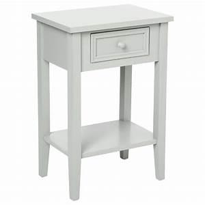 Casa Table De Chevet : table de chevet charme 67cm gris clair ~ Teatrodelosmanantiales.com Idées de Décoration