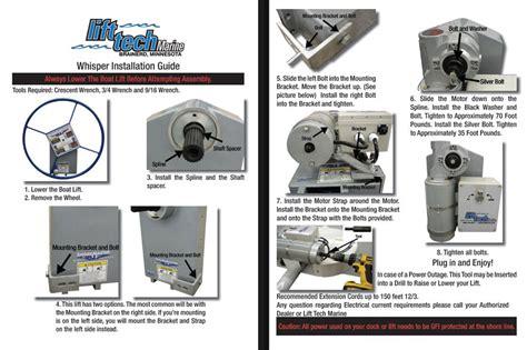 Shoremaster Electric Boat Lift Motor boat lift motor kits