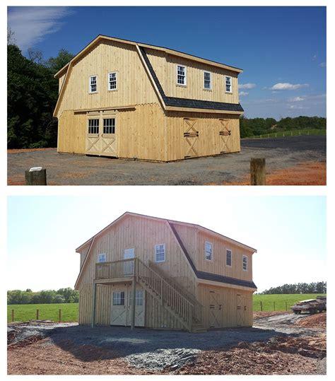34x24 modular quot high profile quot horse barn includes quot gambrel