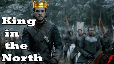 King Of The North Meme - jon snow king in the north game of thrones s6 theories youtube