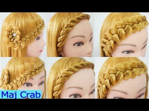peinados casuales  cabello largo trenzas faciles  rapidos peinados canal samsam youtube