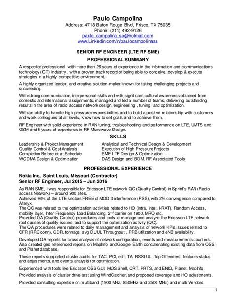 best rf engineering resume photos resume sles