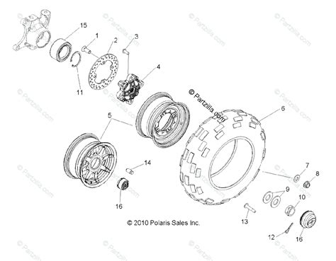 polaris side by side 2011 oem parts diagram for wheels front all options partzilla com
