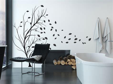 Wandlungsfähiges Wandtattoo  Baum Im Wind Einfach