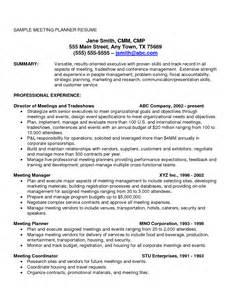 best meeting planner resume 7 best images of strategic planning marketing resume sles marketing executive resume