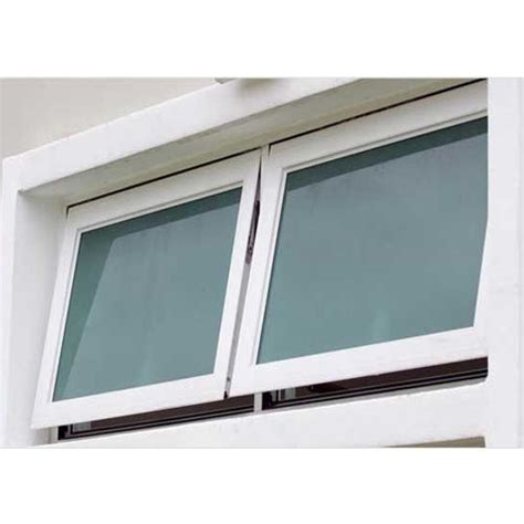 glemtech white upvc top hung window thickness  glass   mm rs  square feet id