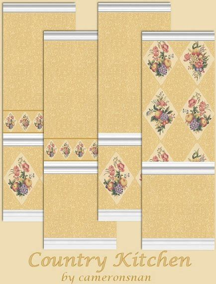 country kitchen wallpaper patterns mod the sims country kitchen wallpaper 6177