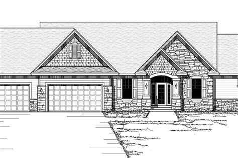 Ranch Style House Plan - 3 Beds 2.5 Baths 3248 Sq/Ft Plan