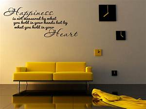 Quote wall stickers for bedrooms : Happiness home bedroom decor vinyl wall quote art decal
