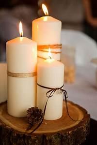 Baumscheiben Deko Hochzeit : herbst basteln ideen stupfkerzen b nder holzscheibe tischdeko diy pinterest kerzen ~ Yasmunasinghe.com Haus und Dekorationen