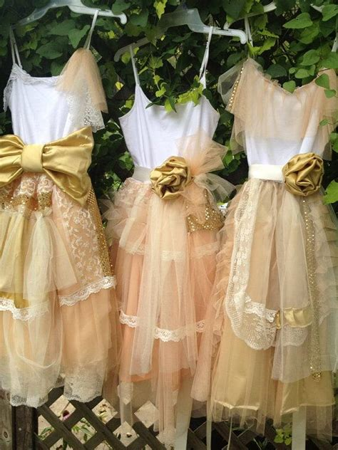 shabby chic bridesmaids dresses bridesmaid peach and gold shabby chic gown boho dress mix and match dresses 2385608 weddbook