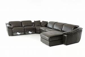 divani casa jasper modern dark grey leather sectional sofa With ditto grey sectional sofa