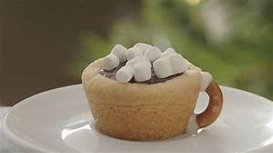Try this hot chocolate cookie cups recipe   GMA