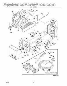 Parts For Frigidaire Frs6lf7fm3  Ice Maker Parts