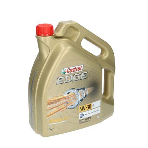 castrol 15669e edge motoröl titanium fst 5w 30 ll 5l castrol motoren 246 l 5w 30 edge titanium ll 5 l 15669e f 252 r u a ebay