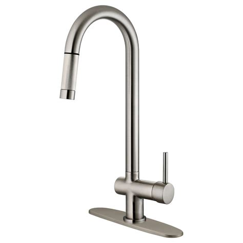 nickel kitchen faucets lk13b pull out kitchen faucet brushed nickel finis