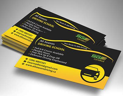 driving school business cards oxynuxorg