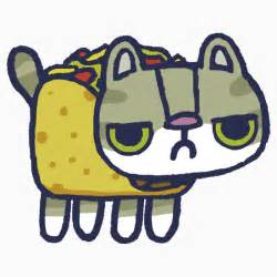 Cute Cartoon Taco Cat