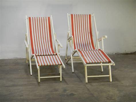 sedie sdraio pieghevoli sedie a sdraio pieghevoli in faggio anni 60 set di 2 in