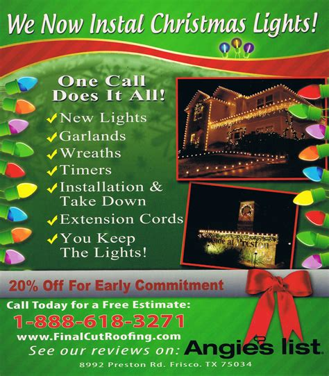 christmas light install lights installation in frisco cut roofing and constructionfinal cut