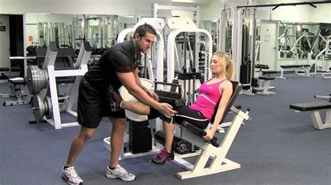 Hamstring Curl With One Leg At A Time By Trainer