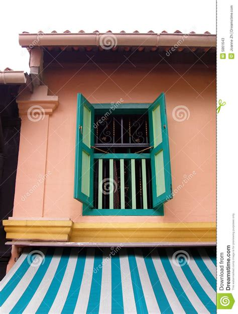 malay village house window stock image image  colorful