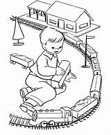 Coloring Baby Toys Pages Toy Train Popular sketch template