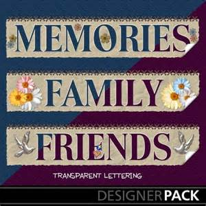 Word Family Memories Clip Art