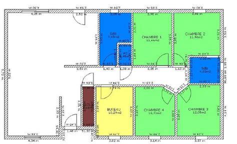 plan maison plein pied 4 chambres plan de maison 4 chambres plain pied deco