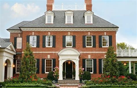 Federal House Plans by Federal Colonial Style House Plans