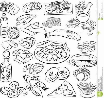 Foods Vector Illustration Snack Dreamstime Contour
