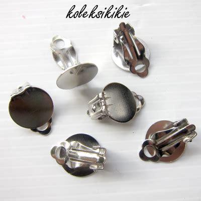 rangka anting jepit silver koleksikikie