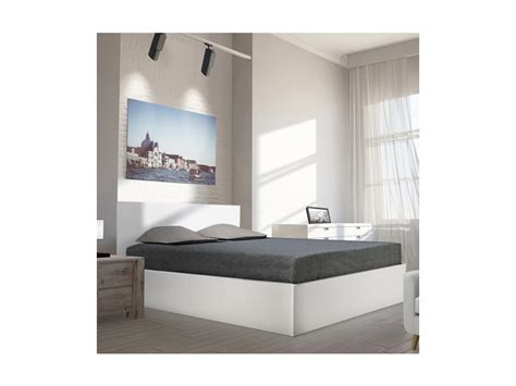 Lit Coffre Madrid 160x200 + 1 Sommier / Blanc