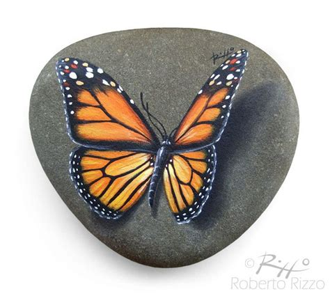 Butterfly And Stones by Pin By Suchin On Rocks Painted Rocks