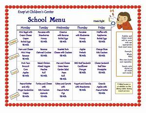 8 best images of printable menus daycares sample daycare With child care menu template