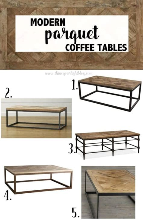 Parquet 46 square reclaimed wood coffee table pottery barn. Parquet Wood & Metal Coffee Tables - Shine Your Light