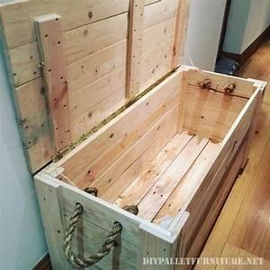 Acheter Meuble En Palette Bois : coffre fantastique fait avec palettes maillots de bain ~ Premium-room.com Idées de Décoration