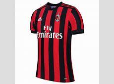 Match Version AC Milan 201718 Home Shirt Soccer Jersey