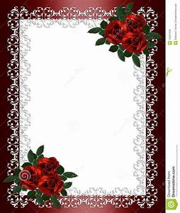 Wedding Invitation Border Red Roses Stock Illustration ...