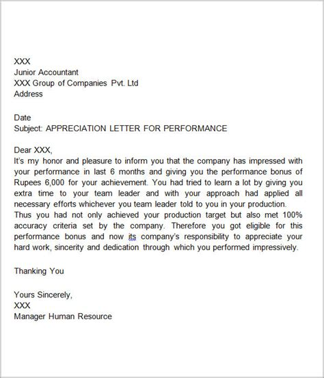 appreciation letter templates thank you letters for appreciation 24 examples in pdf word