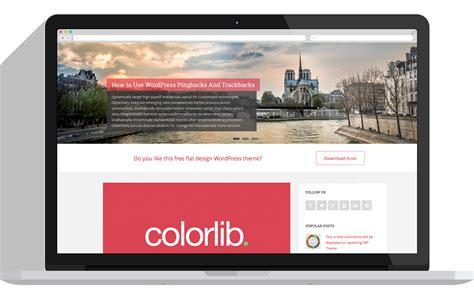 Free Flat Design WordPress Theme