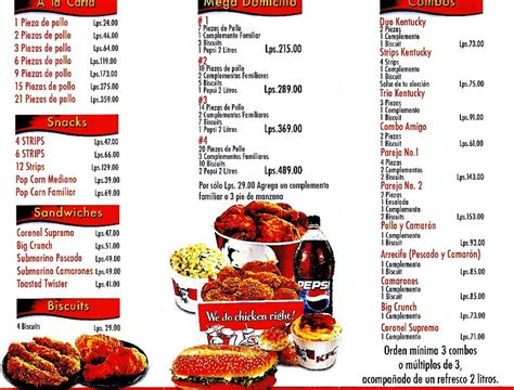 carte cuisine kfc fast food menu quotes