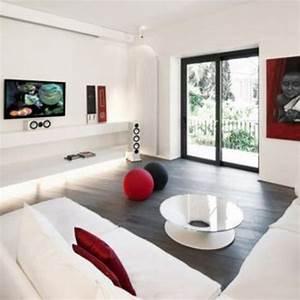 decoration salon blanc et rouge With deco salon rouge et blanc