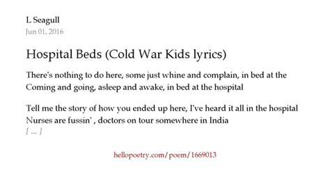 Hospital Beds Cold War by Hospital Beds Cold War Lyrics By L Seagull Hello
