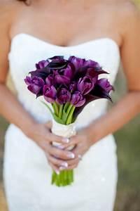 Purple Tulips Wedding Bouquet   Purple Power Wedding ...