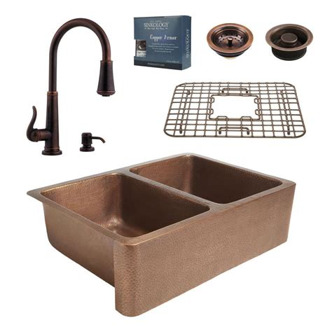 Copper Kitchen Sink Faucet by Sinkology Pfister All In One 33 In Rockwell Copper