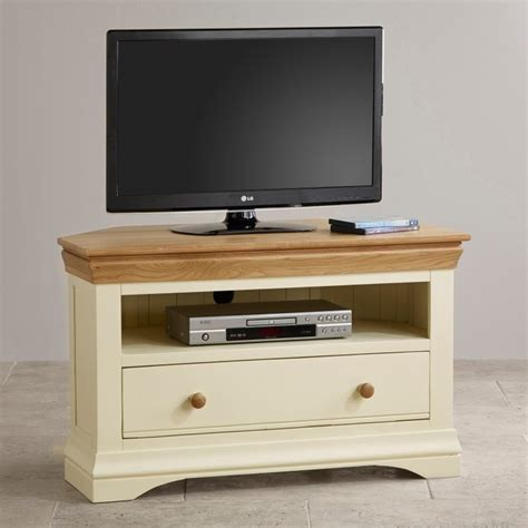 cream corner tv cabinet country cottage natural oak corner tv cabinet cream painted